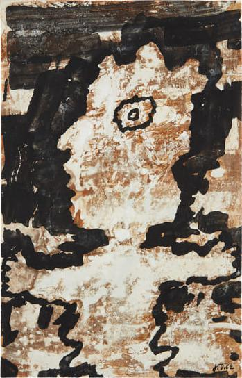 Jean Dubuffet-Personnage (Mi Corps)-1962