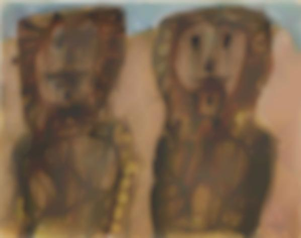 Jean Dubuffet-Deux Arabes-1948
