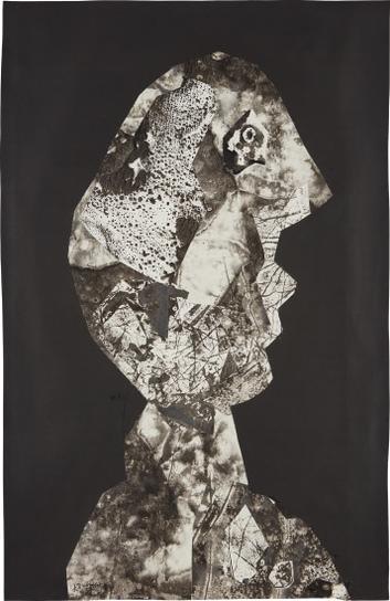 Jean Dubuffet-Tete Griotte-1957