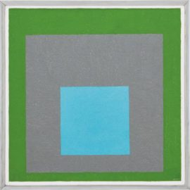 Josef Albers-Study To Homage To The Square - Looking Out-1954