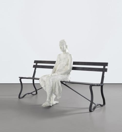 George Segal-Woman With Sunglasses On Bench-1983