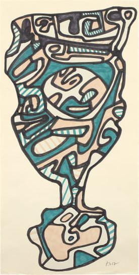 Jean Dubuffet-Le Verre Deau-1967