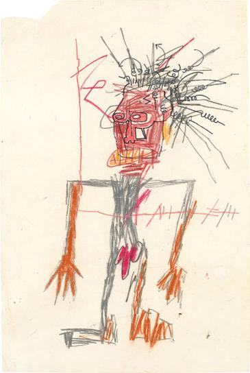 Jean-Michel Basquiat-Untitled (Standing Male Figure)-1983