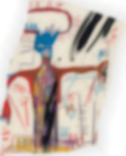 Jean-Michel Basquiat-Untitled (Figure With Blue Head)-1983