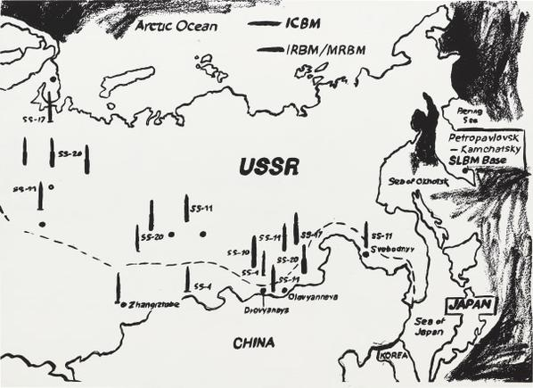 Andy Warhol-Map Of Eastern U.S.S.R. Missile Bases (Positive)-1986