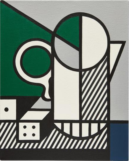 Roy Lichtenstein-Purist Painting With Dice-1975
