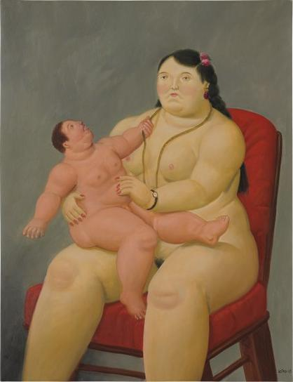 Fernando Botero-Mother And Child-2003