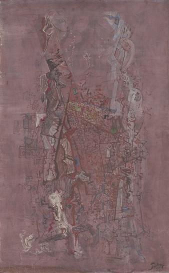 Mark Tobey-Desert Town (Wild City)-1950