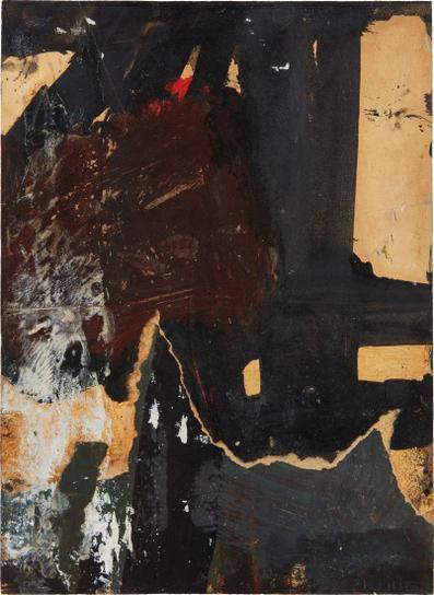 Franz Kline-Black, White, Brown-1960
