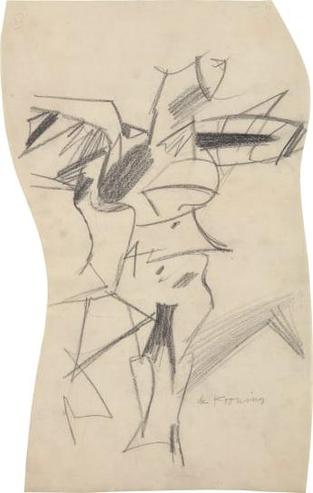 Willem de Kooning-Study For A Woman-1953