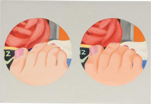 Tom Wesselmann-Double Study For Bedroom Painting #22-1969