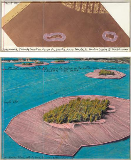 Christo and Jeanne-Claude-Surrounded Islands (Project For Biscayne Bay, Greater Miami, Florida)-1982