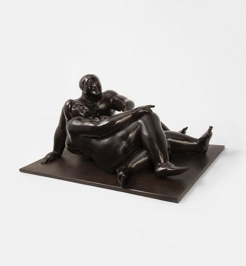 Fernando Botero-The Lovers-1989