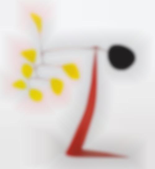 Alexander Calder-White Versus Yellow-1973