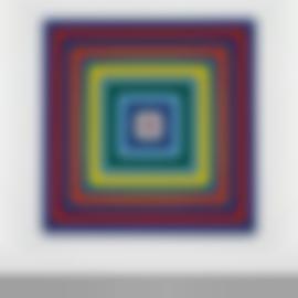 Frank Stella-Scramble: Descending Blue Values/Ascending Spectrum-1977