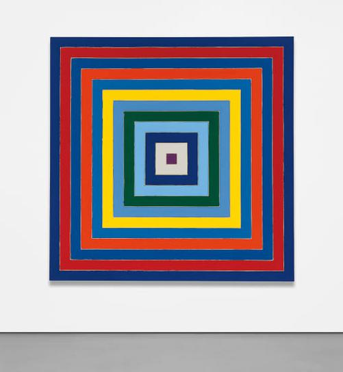 Frank Stella-Scramble: Descending Blue Values/Ascending Spectrum-1977
