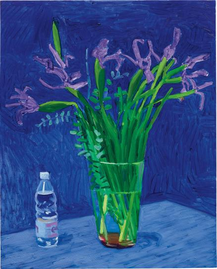 David Hockney-Iris With Evian Bottle-1996