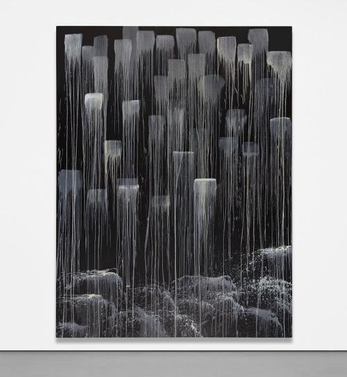Pat Steir-Monk Tuyu Meditating Waterfall-1991