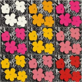 Andy Warhol-9 Flowers-1964
