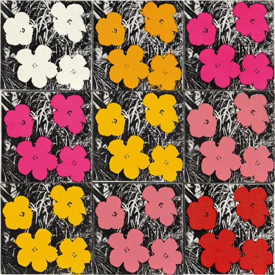 Andy Warhol-9 Flowers-1964