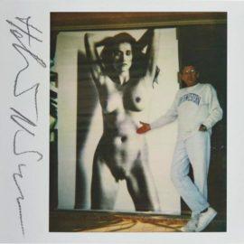 Helmut Newton-Self-Portrait With Big Nude VII, Nancy La Scala-1990