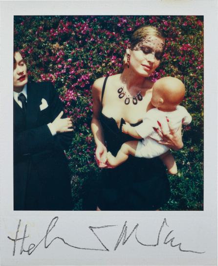 Helmut Newton-Woman Holding Doll-
