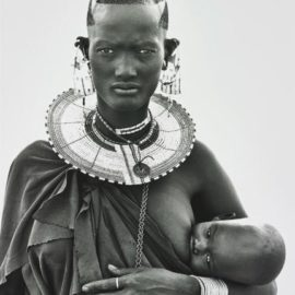 Herb Ritts-Maasai Woman And Child, Africa-1993