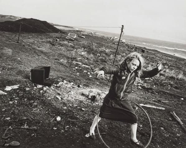 Chris Killip-Helen And Her Hula-Hoop, Seacoal Camp, Lynemouth, Northumberland-1984