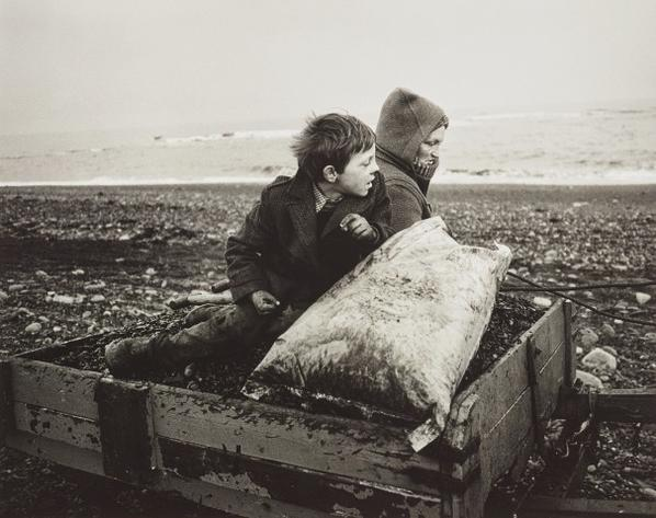 Chris Killip-Rocker And Rosie Going Home, Seacoal Beach, Lynemouth, Northumberland-1984