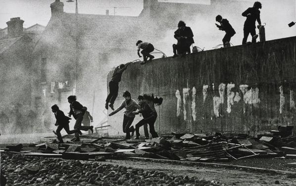 Don McCullin-Gangs Of Boys Escaping C.S. Gas Fired By British Soldiers, Londonderry, Northern Ireland-1971