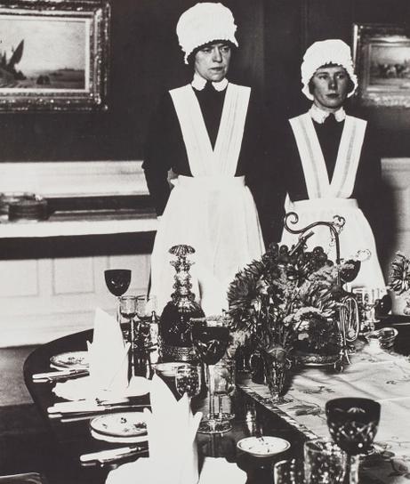 Bill Brandt-Parlourmaid And Under-Parlourmaid Ready To Serve Dinner-1936