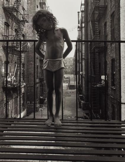 Bruce Davidson-East 100Th St, New York (Girl On Fire Escape)-1966