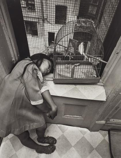 Bruce Davidson-East 100Th St, New York (Girl With Birdcage)-1966