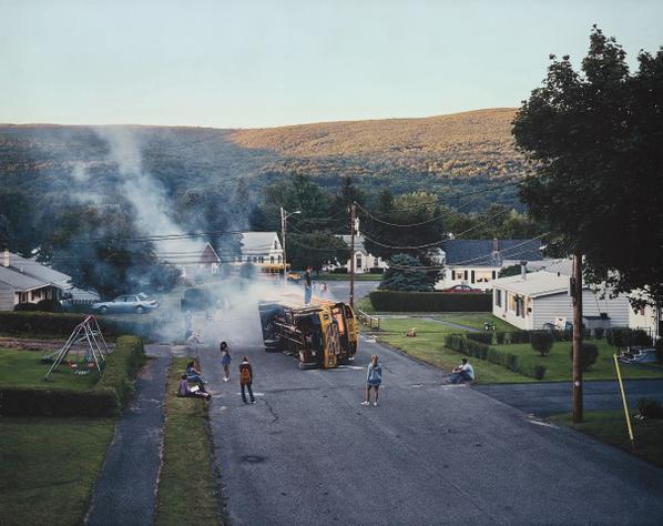 Gregory Crewdson-Untitled (Overturned Bus)-2002