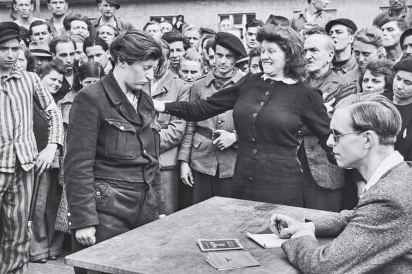 Henri Cartier-Bresson-Gestapo Informer Recognised By A Woman She Had Denounced, Transit Camp, Dessau, Germany-1945