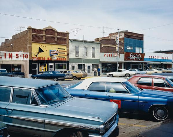 Stephen Shore-Main Street, Redfield, South Dakota, July 13-1973