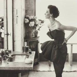 Richard Avedon-Dorian Leigh, Evening Dress By Piguet, Helena Rubinstein Apartment, Paris, August-1949