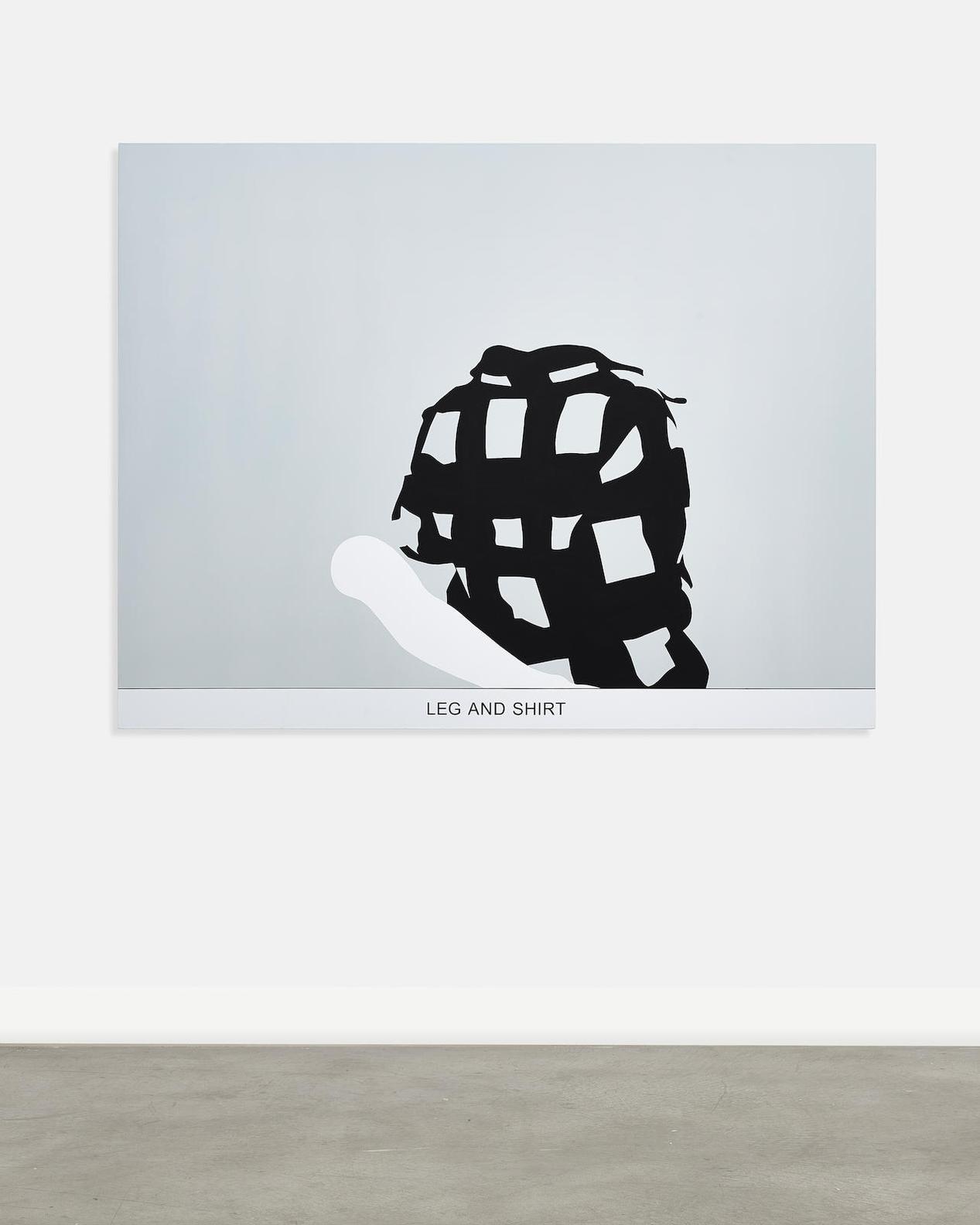 John Baldessari-Sediment: Leg And Shirt-2010