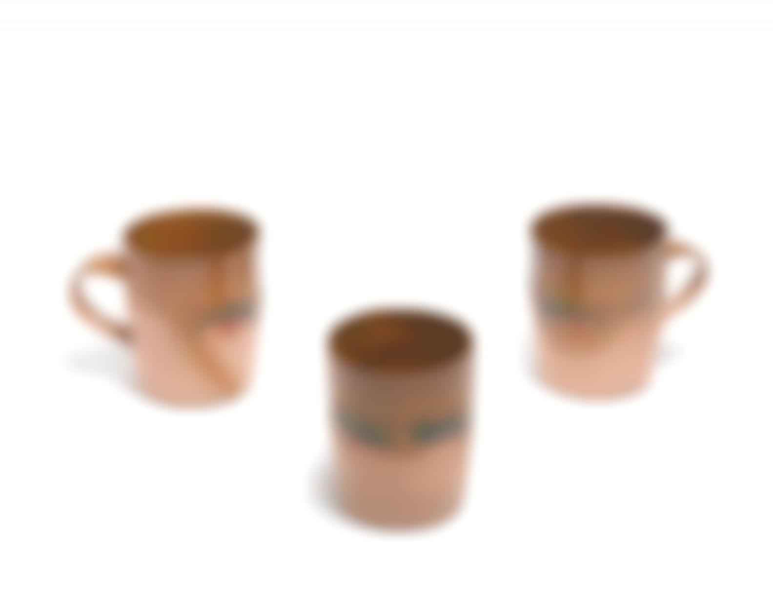 Ken Price-Untitled (Cups), 1972-1977 (Group Of 3)-1977