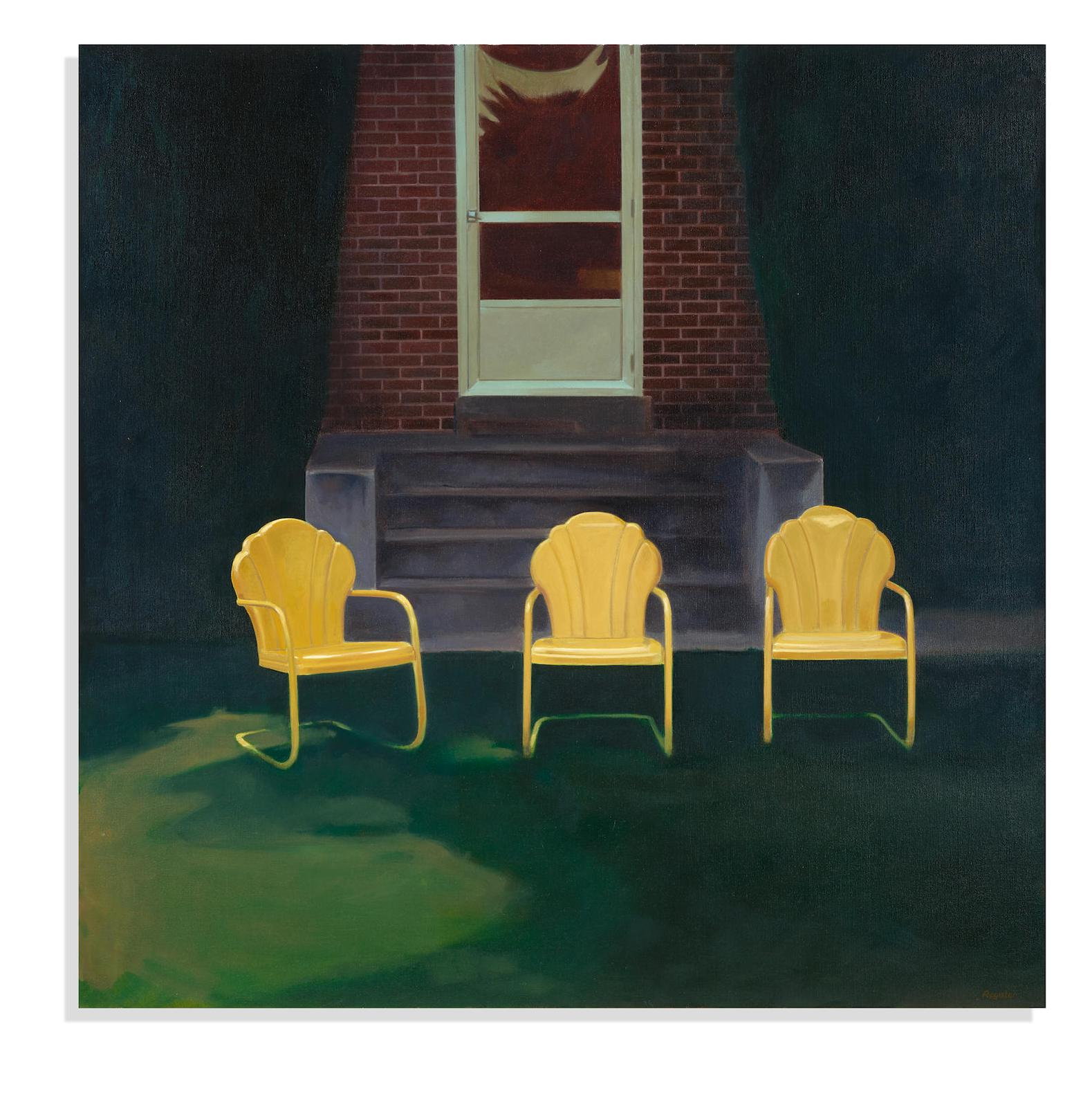John Register-Three Yellow Chairs-1976
