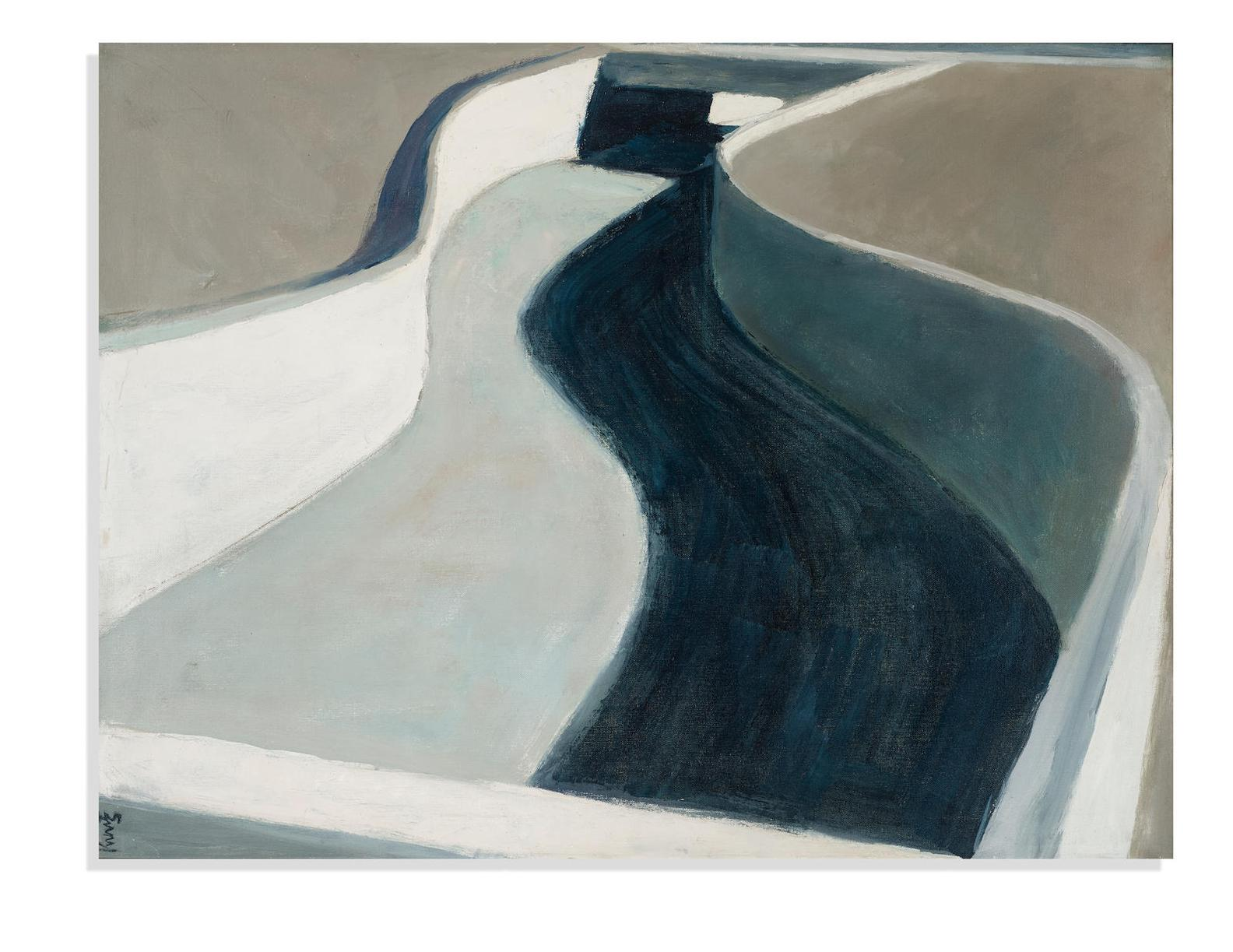 Roger Kuntz - Concrete Canyon (Study) (From The Freeway Series)-1962