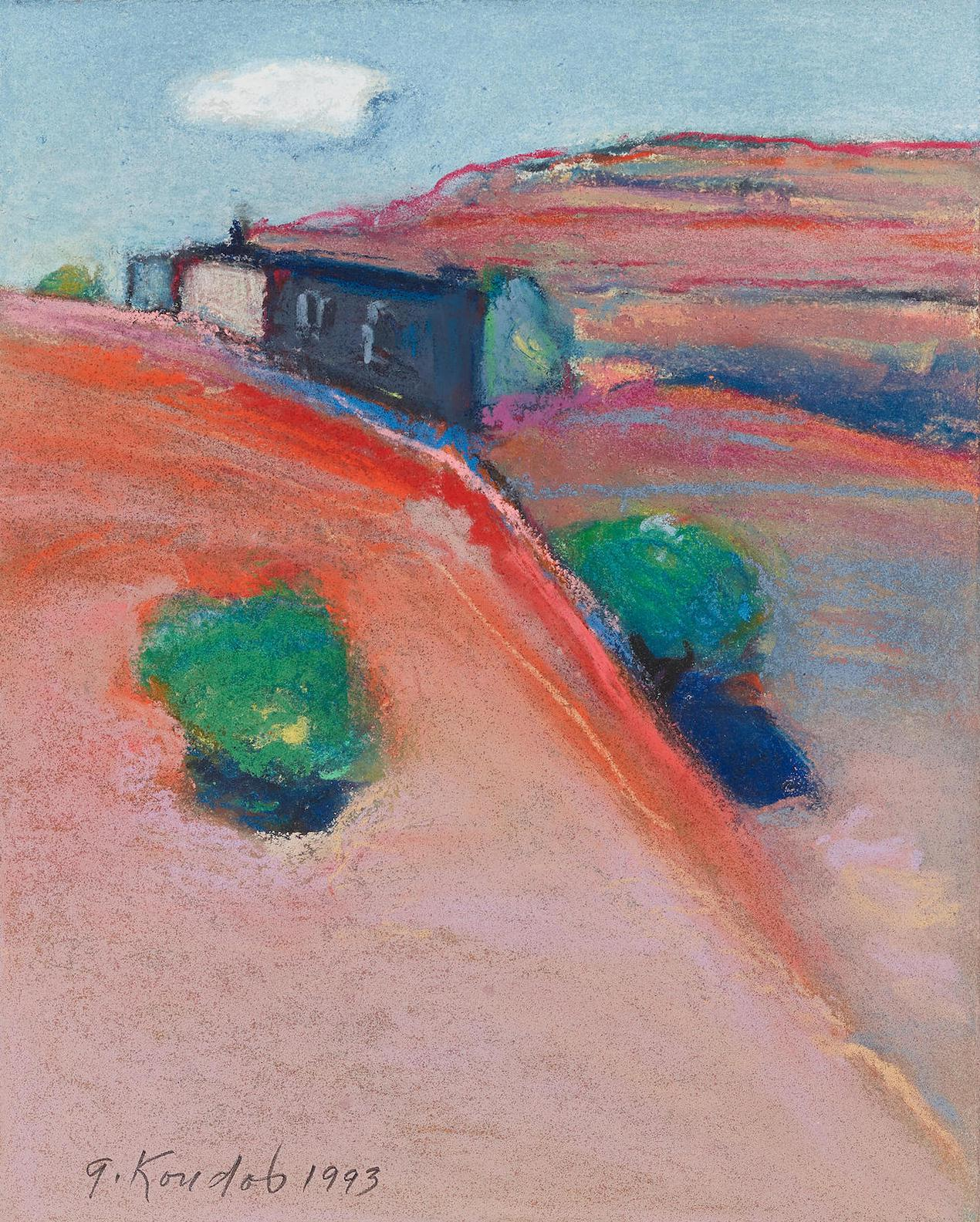 Gregory Kondos-A View From Ghost Ranch New Mexico-1993