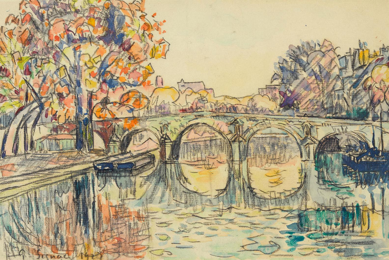 Paul Signac-Paris. Le Pont-Marie-1927