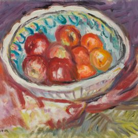 Charles Camoin-Plat De Pommes Sur Tapis Rouge-1964