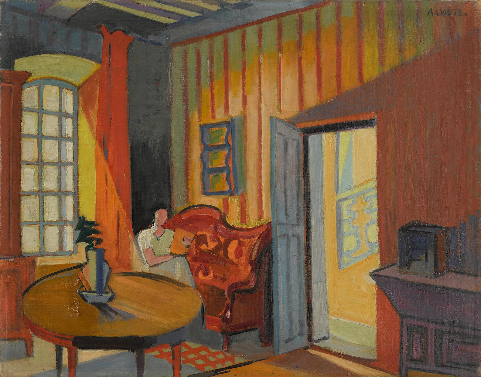 Andre Lhote-Le Salon Rouge A Gordes-1940