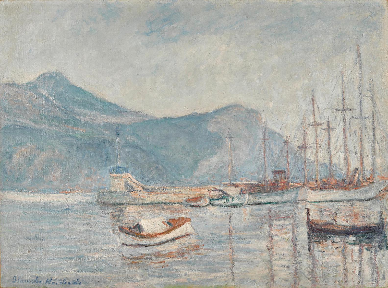 Blanche Hoschede-Monet - Le Lac-1920