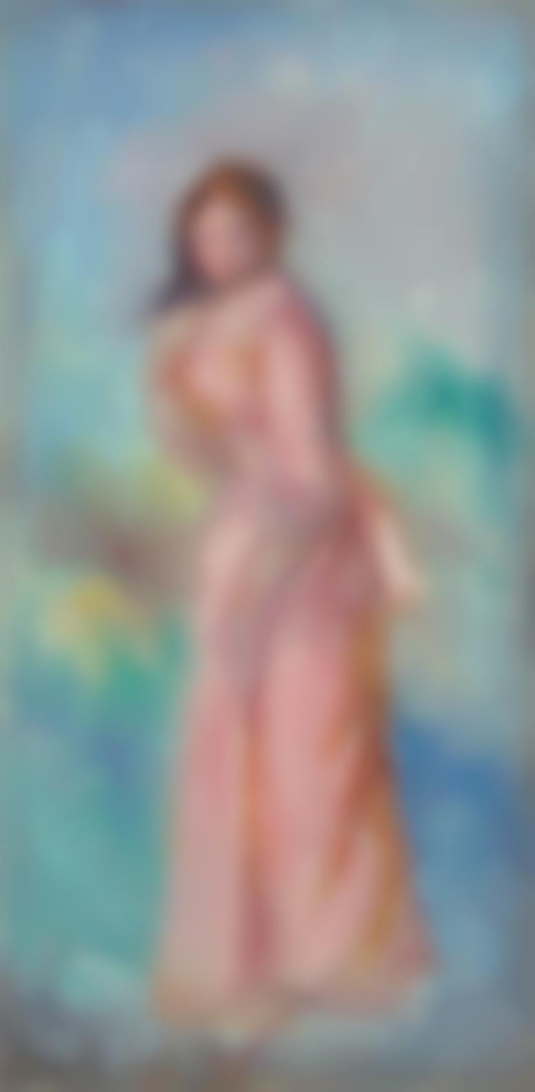 Pierre-Auguste Renoir-Jeune Fille En Rose-1900