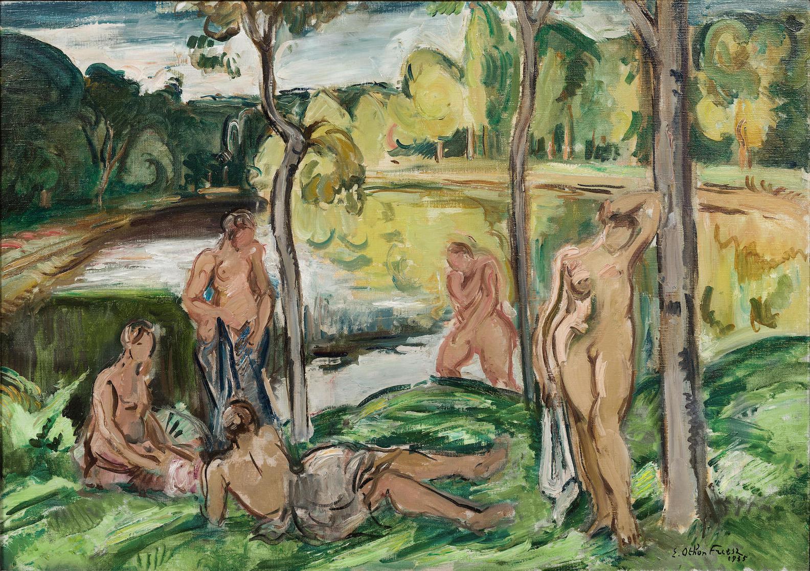 Achille Emile Othon Friesz - Baigneuses Sur La Rance-1935