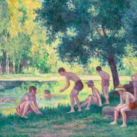 Maximilien Luce-Baignade Dans La Cure-1908