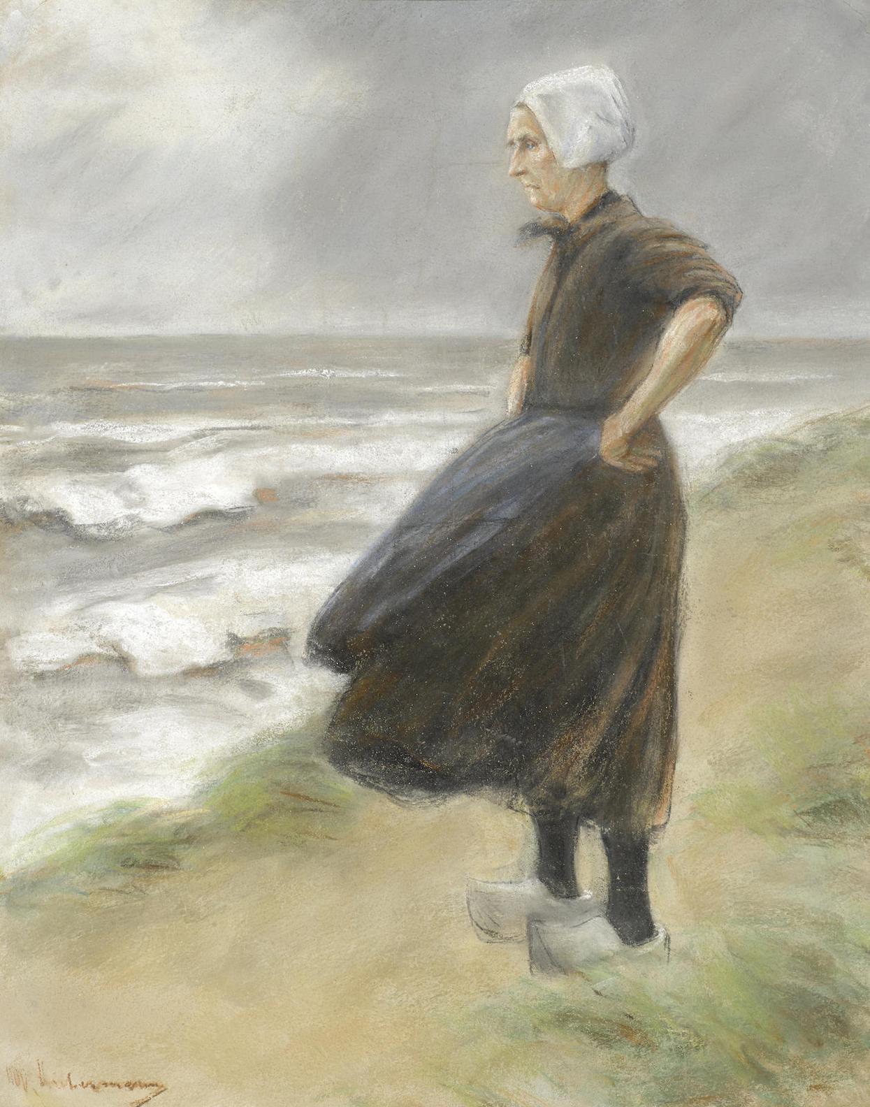 Max Liebermann-Hollanderin, Stehend In Den Dunen Nach Links-1887